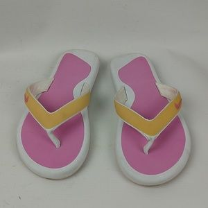 Nike Pink and White Flip Flops, Sz 7